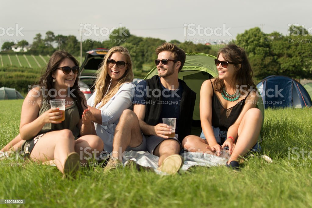 At the campsite royalty-free stock photo