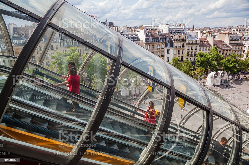 Museo Pompidou.At The Centre Pompidou In Paris France Stock Photo More Pictures