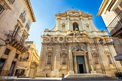 At the church Chiesa di Sant'Irene in Lecce Apulia Italy