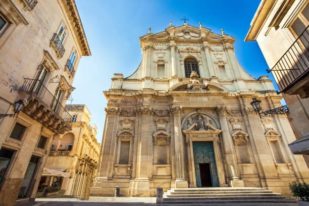 At the church Chiesa di Sant'Irene in Lecce Apulia Italy stock photo