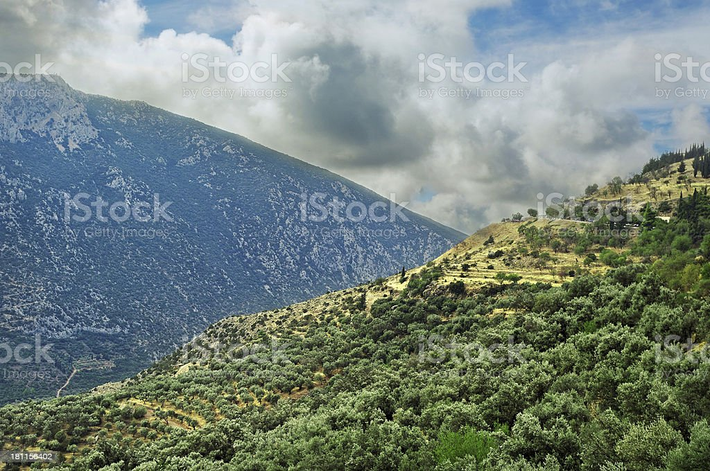 At the Delphi district. royalty-free stock photo