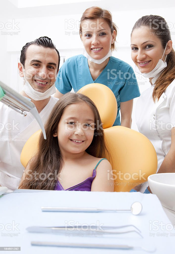 At the dentist office royalty-free stock photo