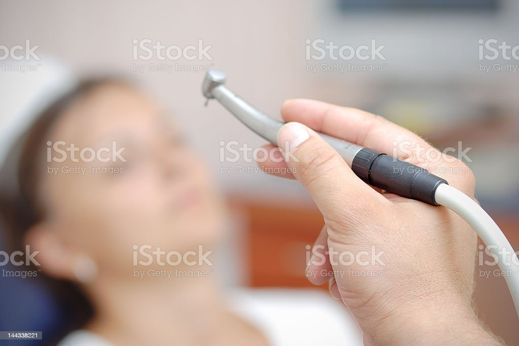 At the dentist stock photo