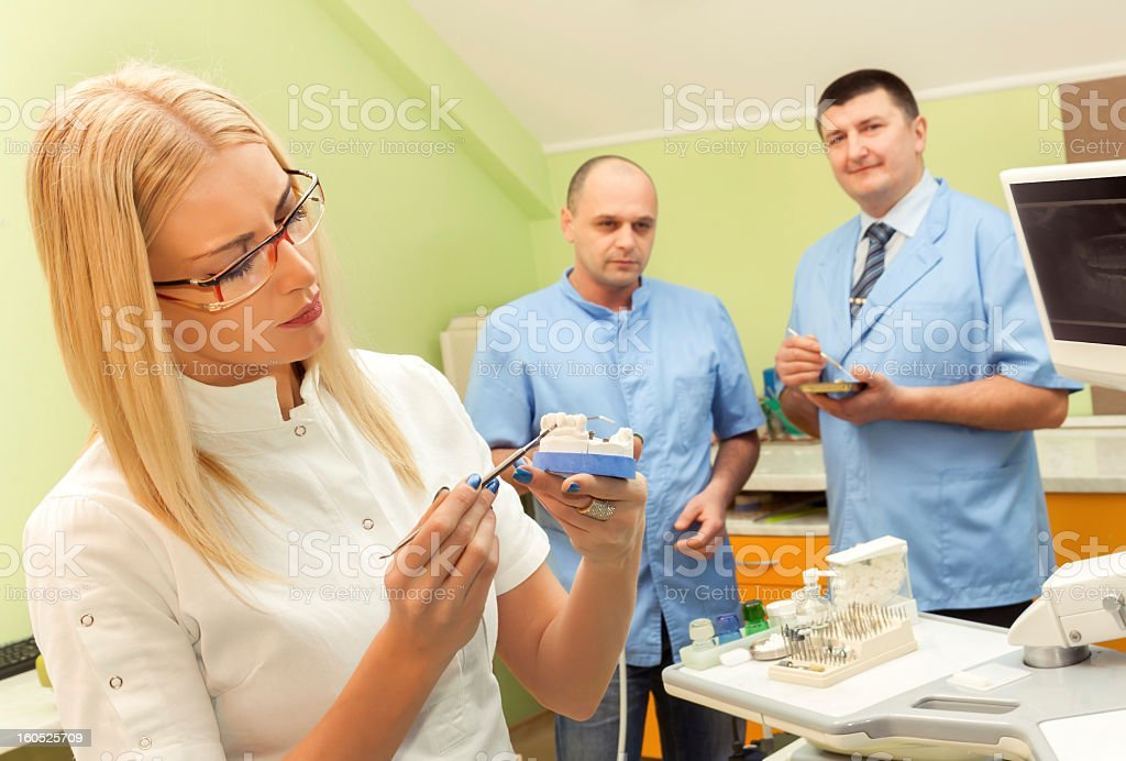 At  the dentist royalty-free stock photo