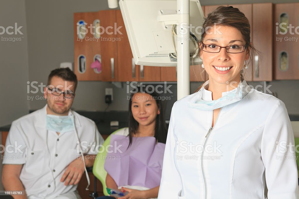 At the Dentist - Professional Woman royalty-free stock photo
