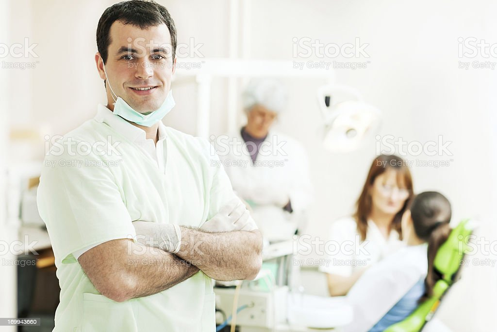 At the dentist's. royalty-free stock photo