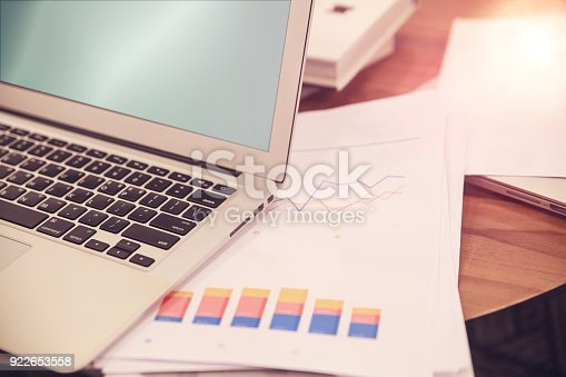 801895196istockphoto At the desk preparing the presentation. 922653558