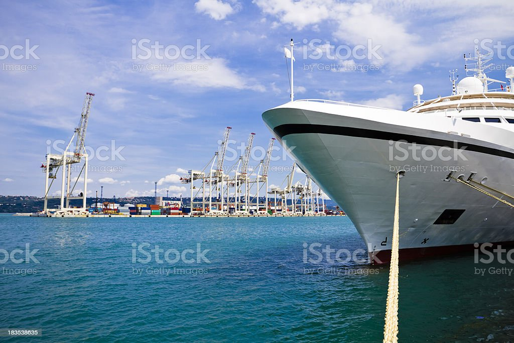 at the docks royalty-free stock photo