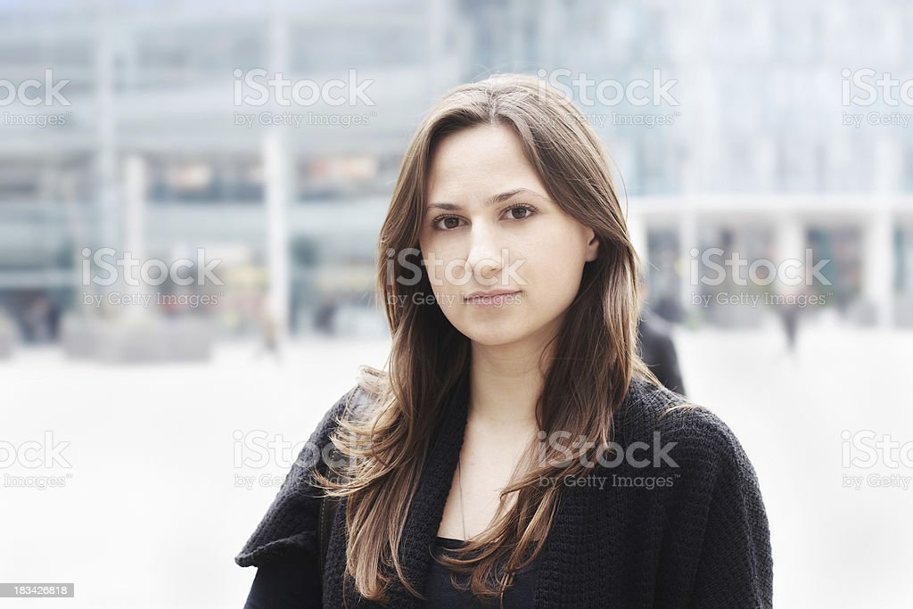 At the downtown royalty-free stock photo