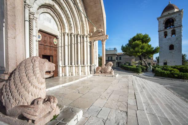 At the Duomo Cathedral San Ciriaco in Ancona Marche Italy stock photo