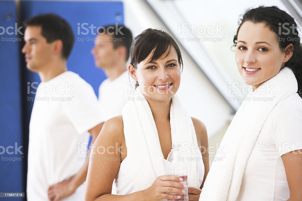 At the fitness club stock photo