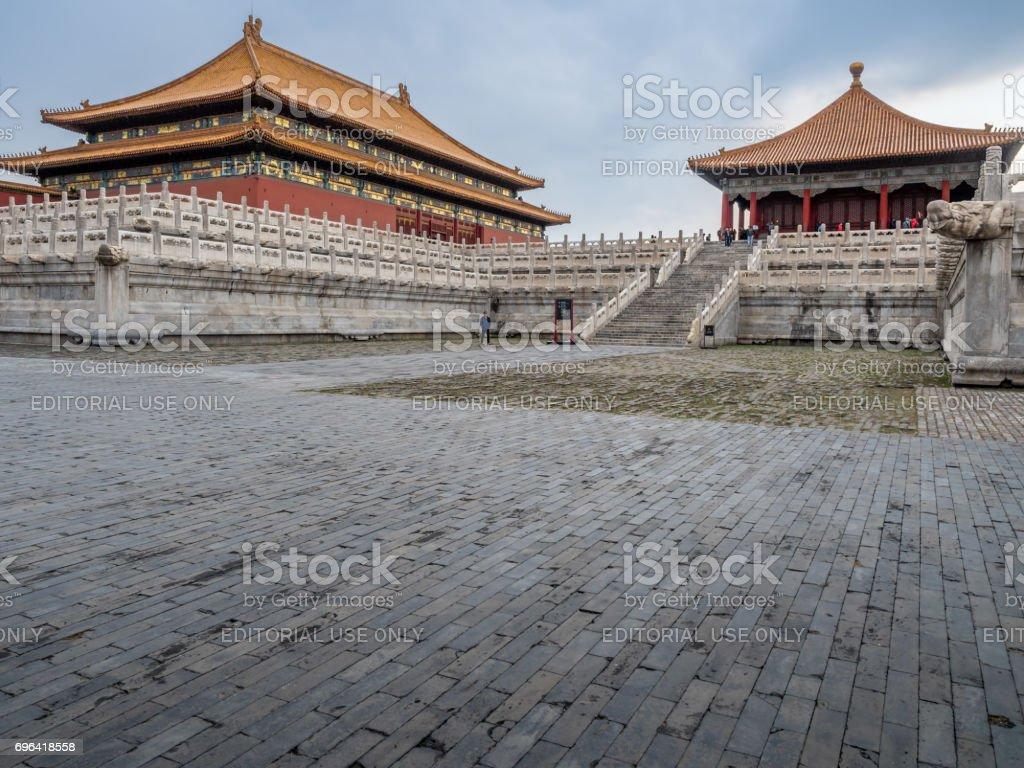At the Forbidden City (Gu Gong, Palace Museum), Beijing stock photo
