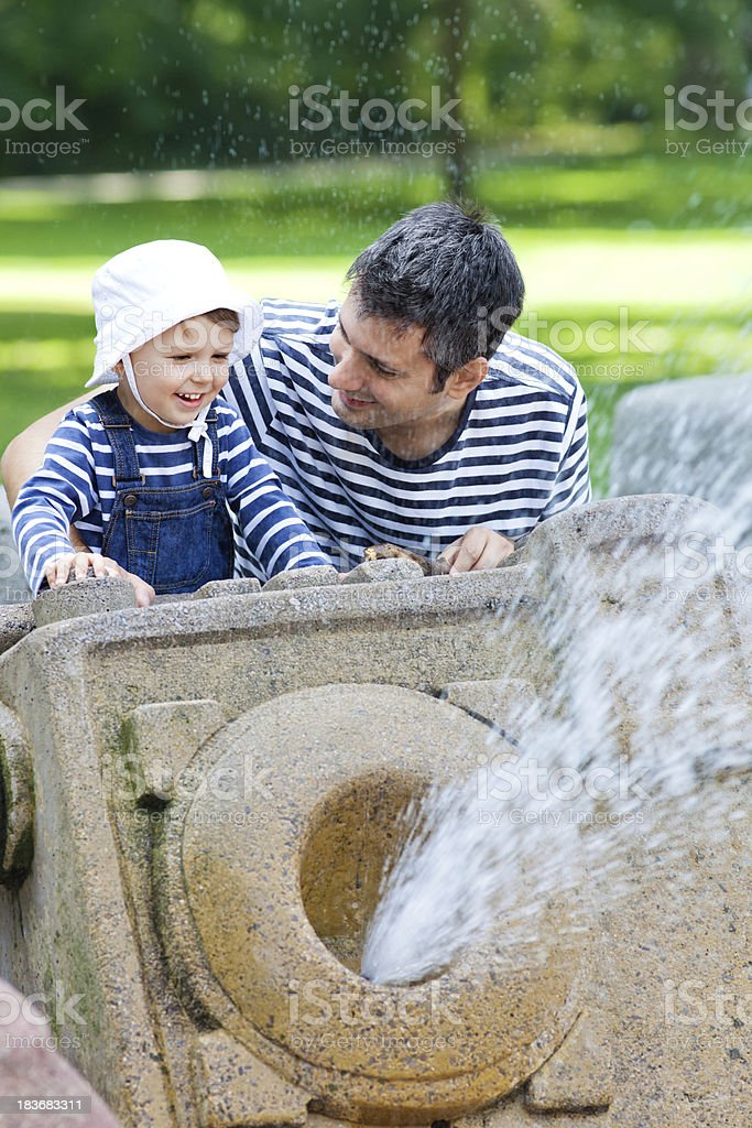 At the fountain royalty-free stock photo
