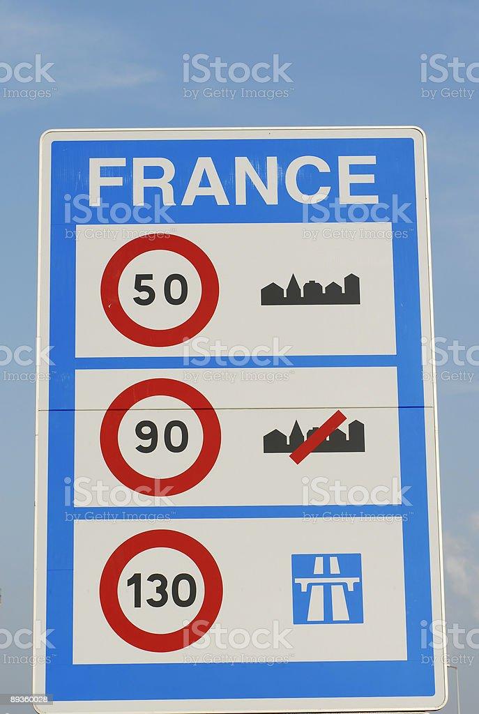 At the French Border royalty free stockfoto