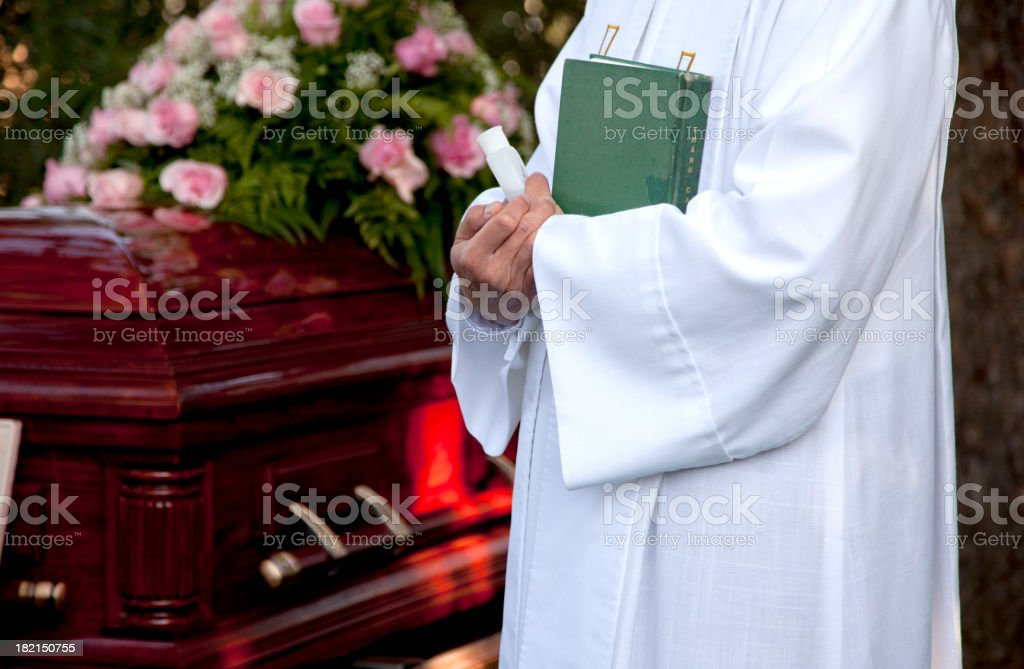 At the funeral royalty-free stock photo