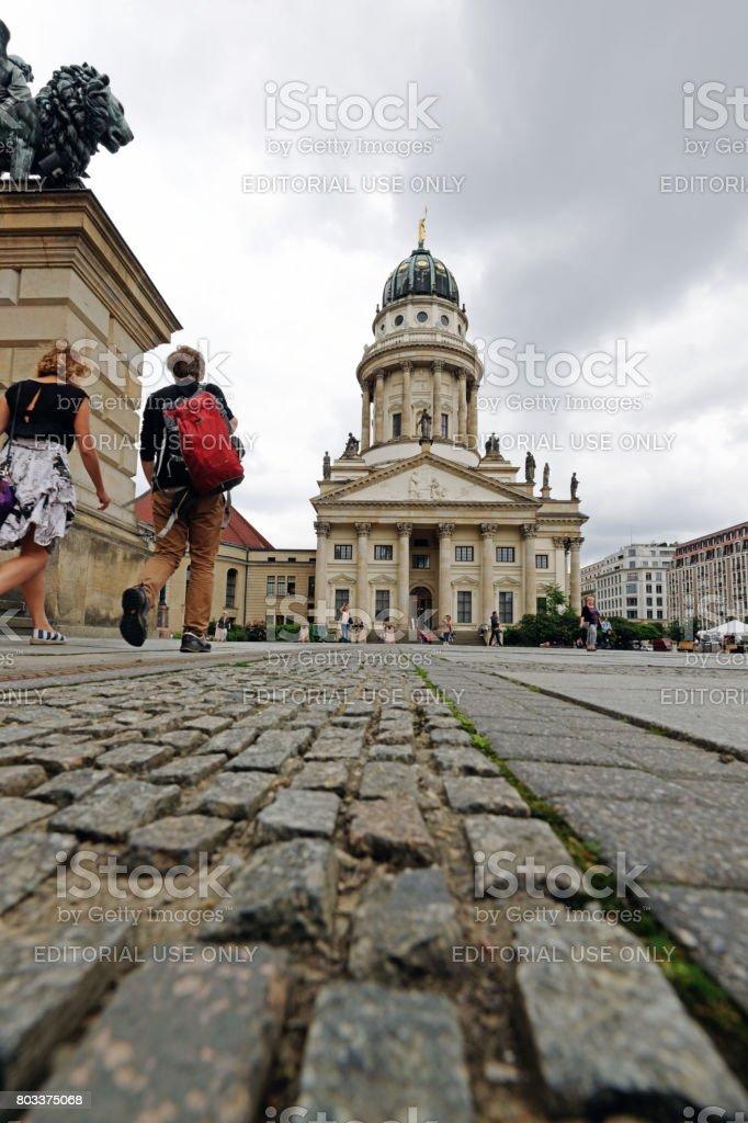 At the Gendarmenmarkt in Berlin stock photo