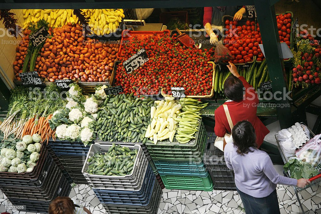 At the greengrocer royalty-free stock photo