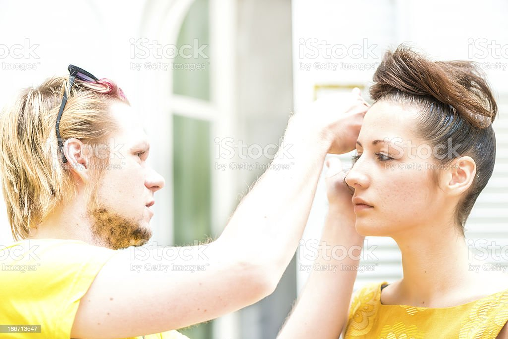 At the hairdresser royalty-free stock photo