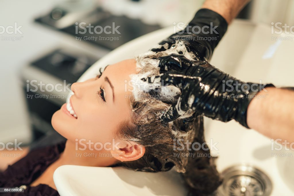 At The Hairdresser's royalty free stockfoto