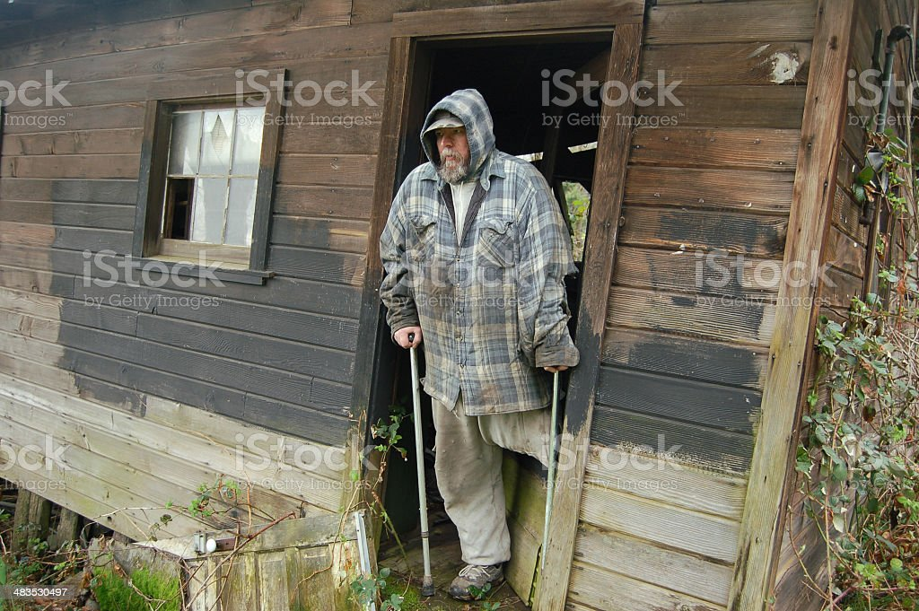 At The Home of a Disabled Man royalty-free stock photo