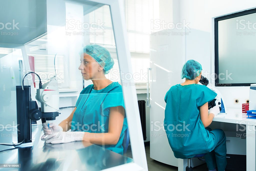 At the laboratory stock photo