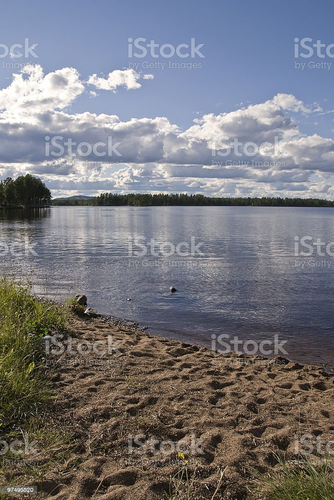 At the lake royalty-free stock photo