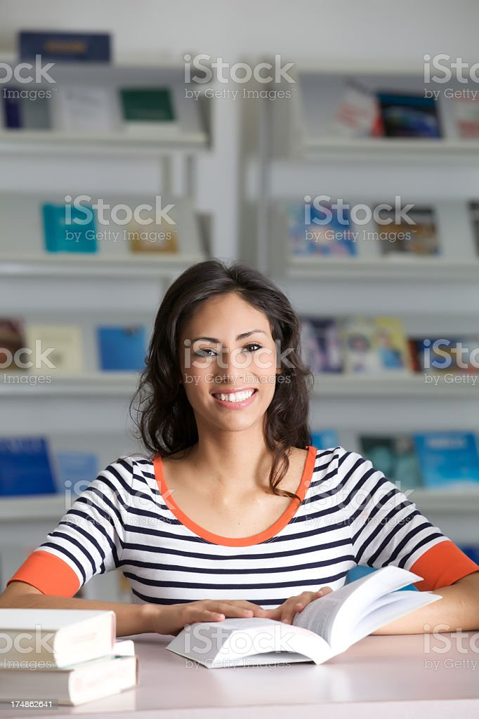 At the local library royalty-free stock photo