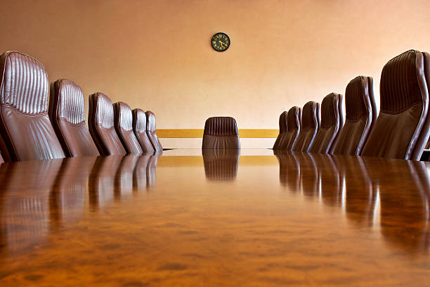 At the meeting room stock photo