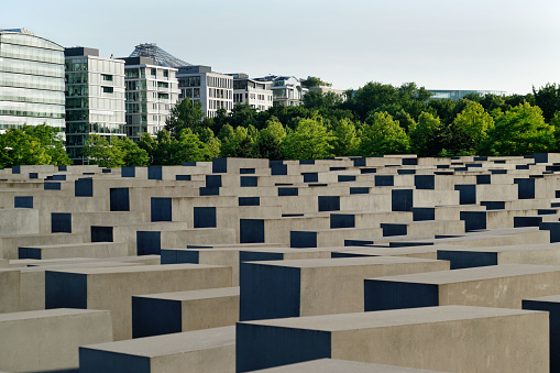 At the Memorial to the Murdered Jews of Europe