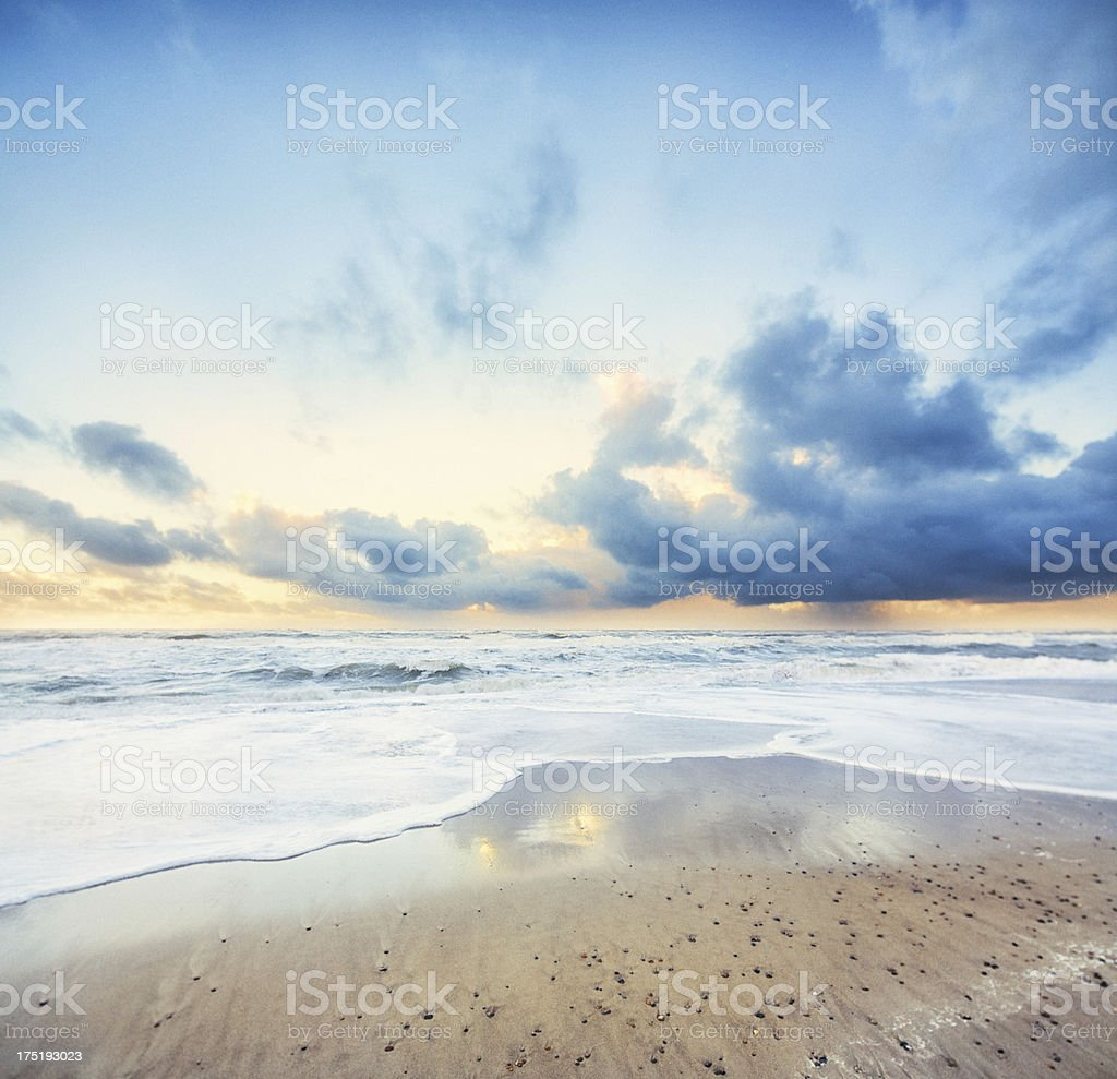 At the ocean after storm royalty-free stock photo