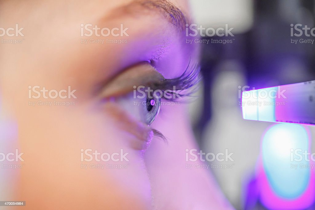 Der Optiker Ophthalmology Augenoptiker medical eye Behandlung – Foto