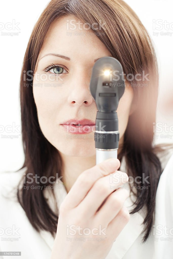 At the Optician royalty-free stock photo