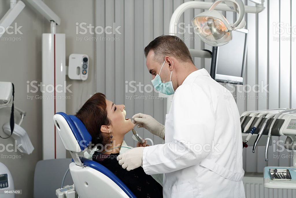 At the orthodontist royalty-free stock photo
