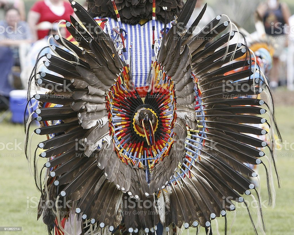 At The Pow-Wow - Royalty-free Color Image Stock Photo