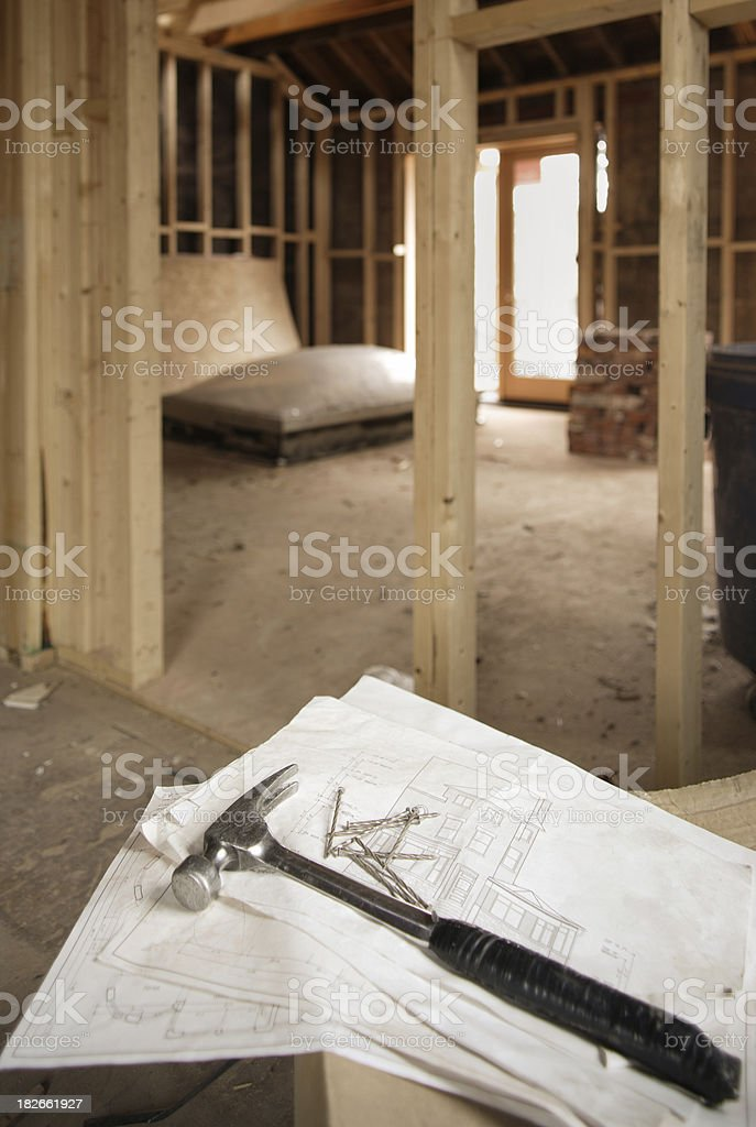 At the renovation site royalty-free stock photo