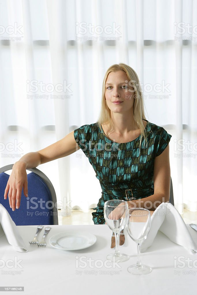 At the restaurant royalty-free stock photo
