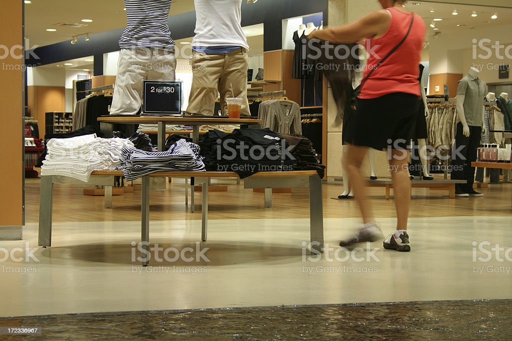 At the shopping mall royalty-free stock photo