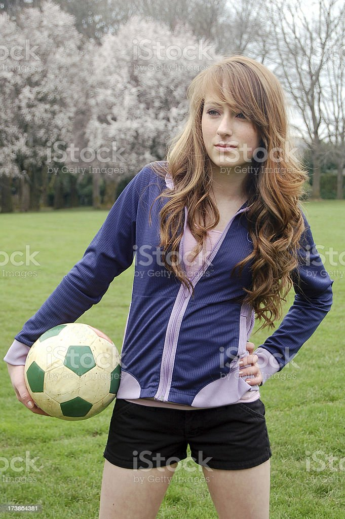 At The Sidelines royalty-free stock photo
