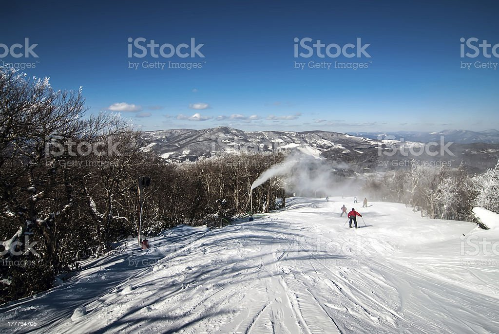 at the ski resort stock photo