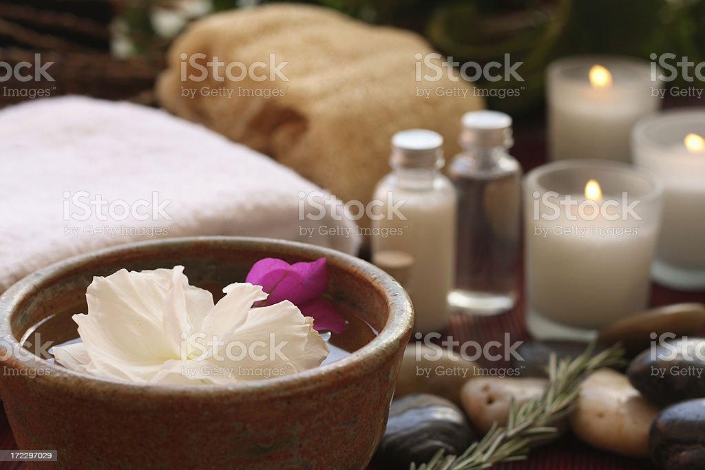 At the spa stock photo