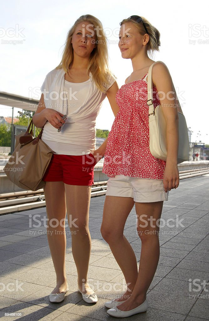 At the station royalty-free stock photo
