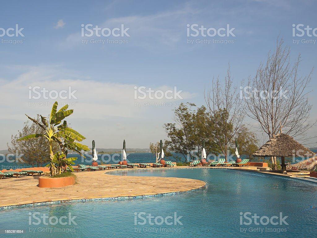 At the swiming pool royalty-free stock photo