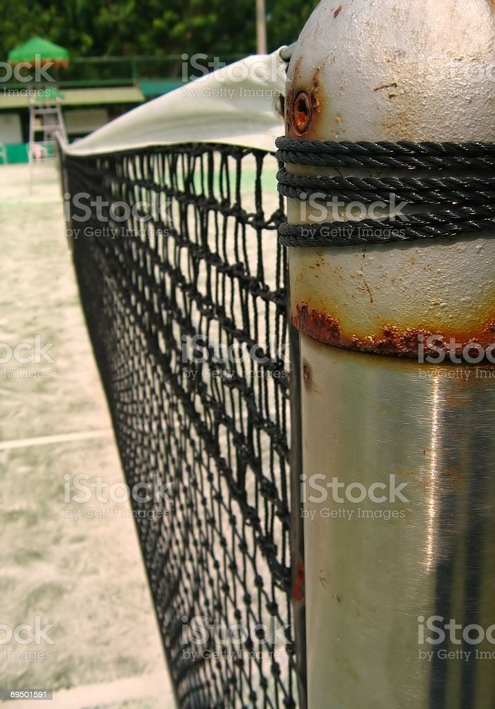 At The Tennis Court royalty free stockfoto