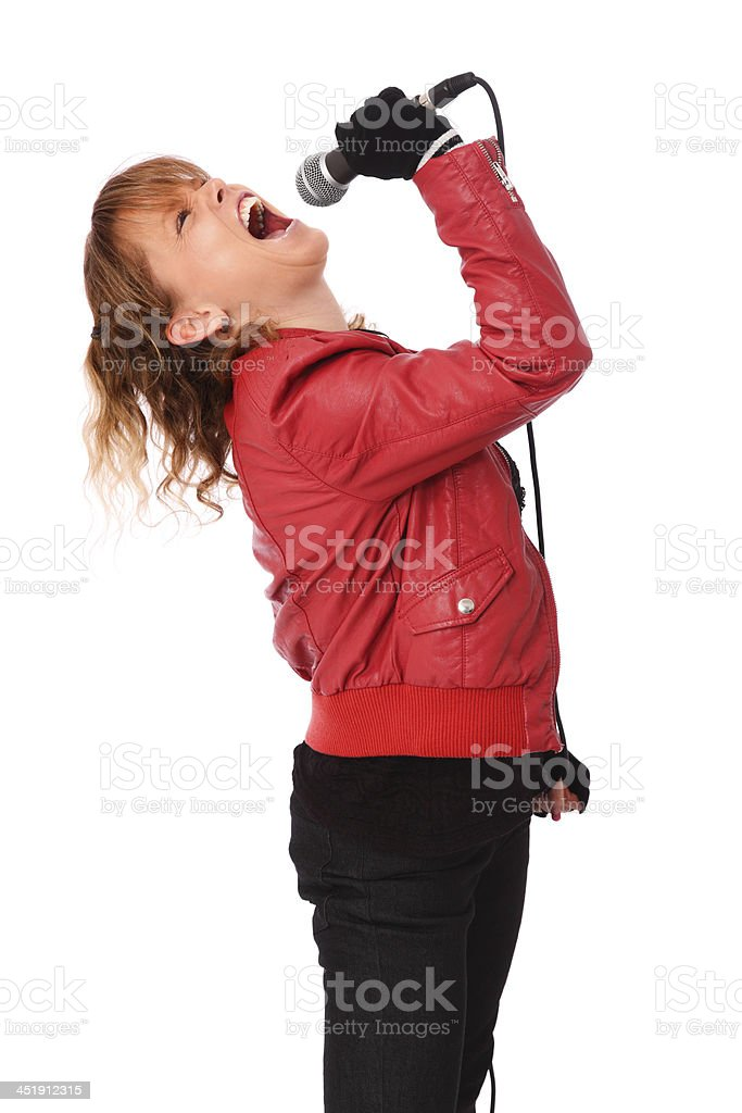 At the top of my lungs! royalty-free stock photo