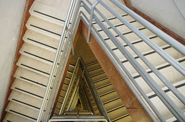 At the top of the stairs View from the top of the stairs right angle stock pictures, royalty-free photos & images