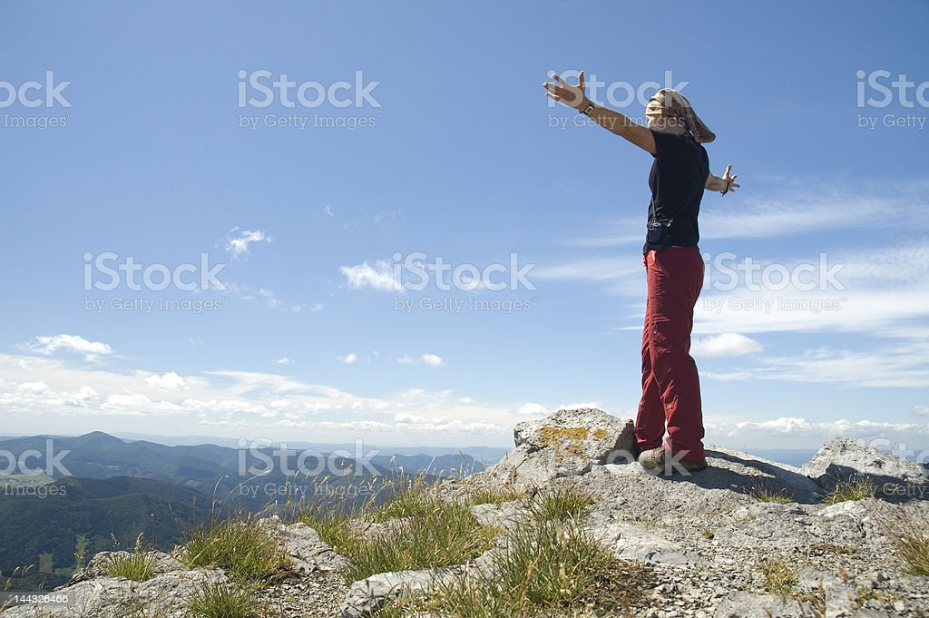 At the top royalty-free stock photo