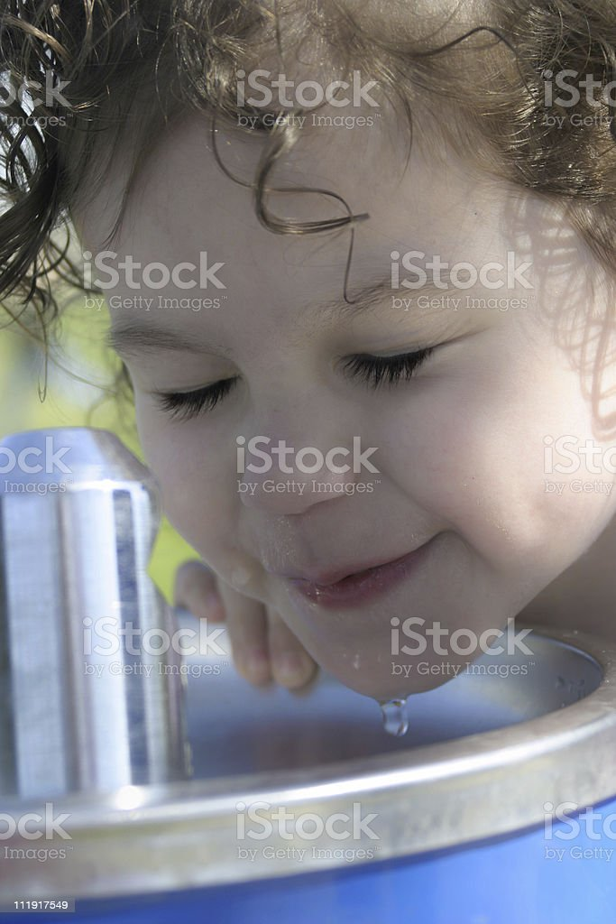 At the Water Fountain royalty-free stock photo