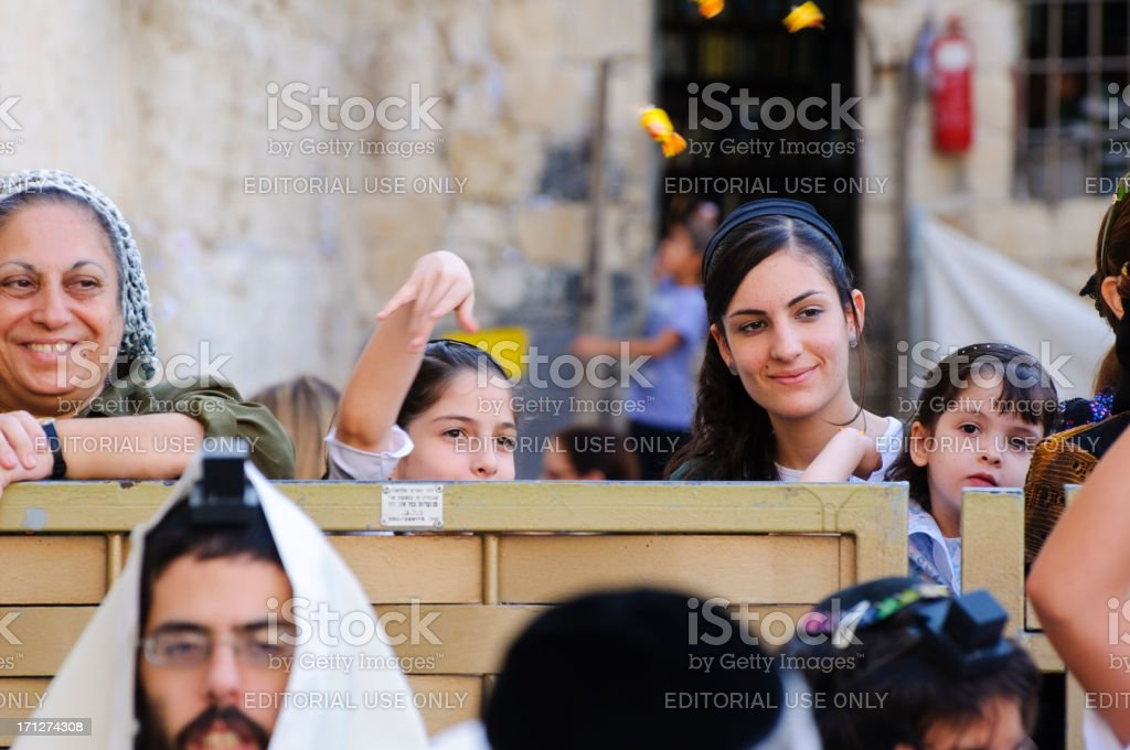 Jewish culture at the Western Wall royalty-free stock photo