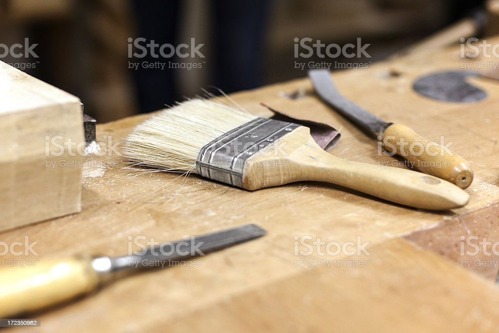 At the wood workshop royalty-free stock photo