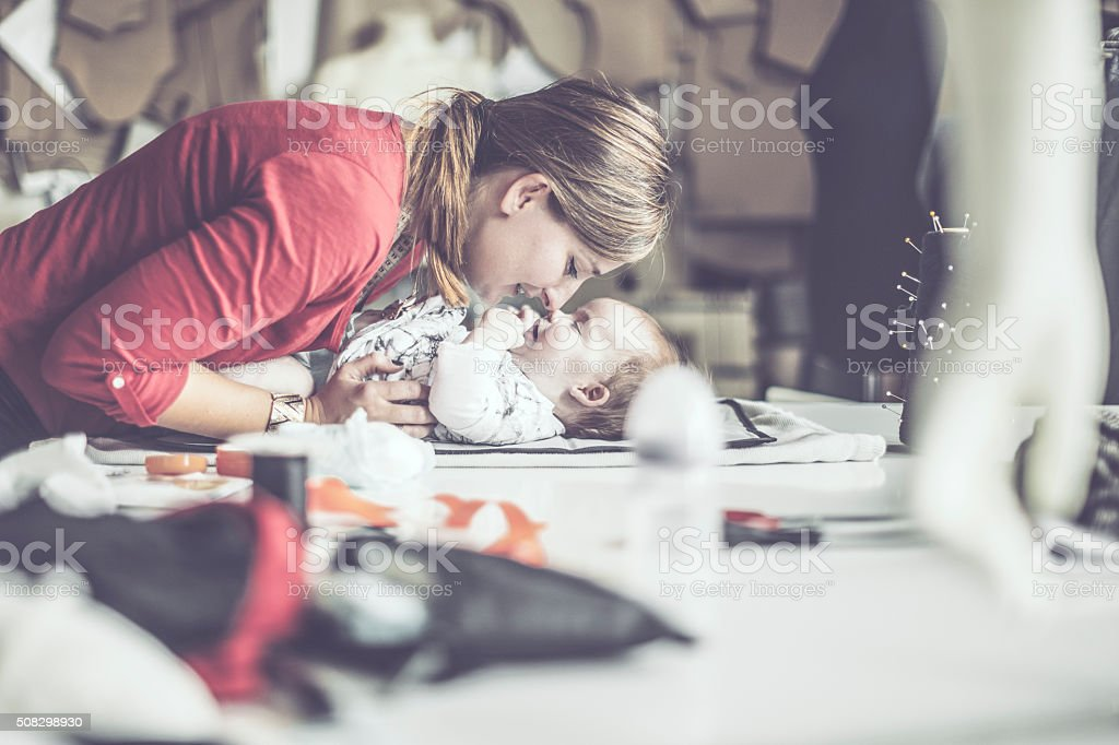At the workplace royalty-free stock photo